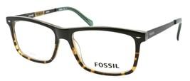 Fossil FOS 6033 UHI Men's Eyeglasses Frames 55-16-145 Green Havana / Ruthenium - $79.00