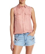 New Nordstrom Romeo & Juliet Couture Double Pocket Collared Tank $108 re... - $24.99