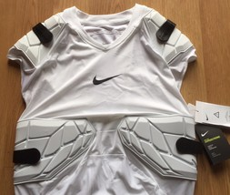 Nike Pro Combat Hyperstrong L Large White 4 Pad Compression Football Spo... - $36.62