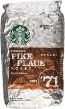 Starbucks Pike Place Roast, Whole Bean, 12 Oz. (Pack of 2 Bags) - $24.99