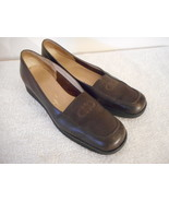 Salvatore Ferragamo Boutique Leather Womens Brown Loafer Shoes 7.5 4 N - $39.59