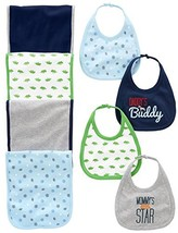 Simple Joys by Carter's Baby Boys' 8-Pack Burp Cloth and Bib Set, Sports... - $18.30