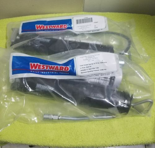 Lot of 2- New WESTWARD 4BY69 & 4BY70 Grease Gun, Lever, Pipe, 6000 psi packaged