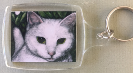 Small Cat Art Keychain - Timmy - $6.00