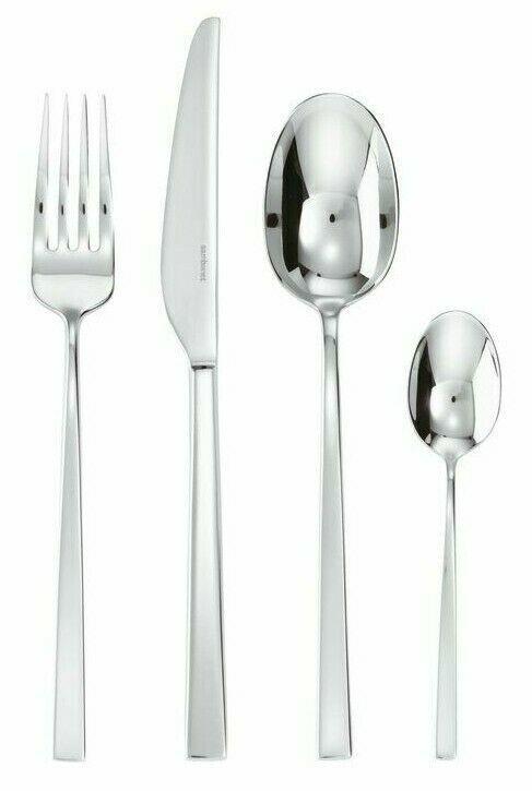 NEW Sambonet 24 Piece Solid Handle LINEA Q Inox Cutlery Flatware Set 52530-81