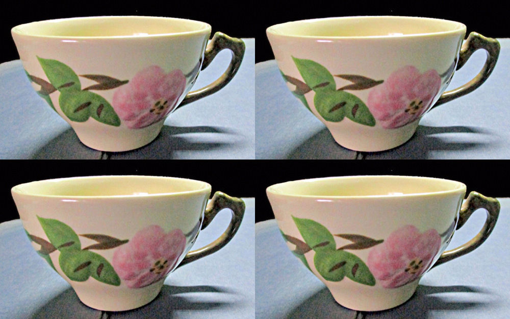 Primary image for Four Franciscan Desert Rose Coffee Cups