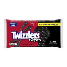 TWIZZLERS Twists (Black Licorice, 1-Pound Bags, Pack of 6) (Halloween Ca... - $22.96