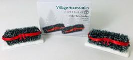Dept 56 Picket Lane Hedge Set of 2 Village Accessory 4038875 in Box 3.25... - $14.50