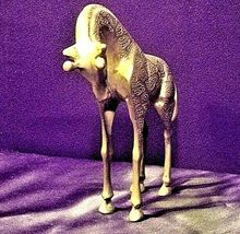 Vintage Heavy Metal Art Giraffe Decor 8 inch Tall AA19-1397 image 4