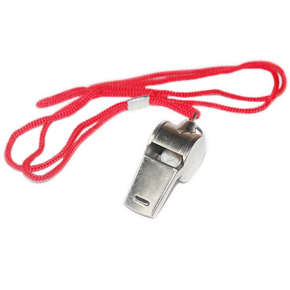 Emergency Soccer Referee With Lanyard Football Whistle Metal
