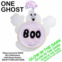 HALLOWEEN SAFETY REFLECTOR GHOST GLOW IN THE DARK TRICK OR TREAT COSTUME... - $12.99