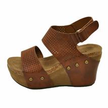 Pierre Dumas HESTER-23 Whiskey Women's Platform Wedge Sandals 22615 - $44.95
