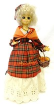 Vintage Doll Brinns September Plaid Basket Fall Birth Month Musical Cale... - $39.17