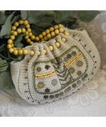 Crocheted Handbag Hippie Hobo Tote with Beads and Baubles - $22.00