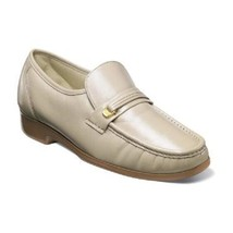 Mens Florsheim Riva Beige Shoes Leather Slip On Easy fit 17088-06  - $126.00