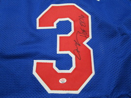 ALLEN IVERSON / NBA HALL OF FAME / AUTOGRAPHED 76ERS CUSTOM BASKETBALL JERSEY  image 3