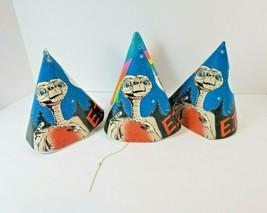Vintage Lot of 3 1982 E.T. Birthday Party Hats & Sesame Street Hat & Bon... - $18.50