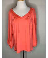 Diane Von Furstenberg DVF Silk Gardenia Cahil Blouse Top V-Neck Pleats P... - $29.95