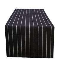 Cotton Table Runner Striped Black - $15.79