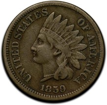 1859 Indian Head Cent Penny Coin Lot A 292 image 1