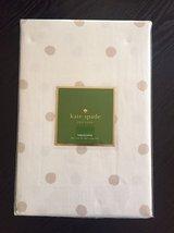 "Kate Spade Charlotte Street Flaxseed Beige Polka Dots Tablecloth 102"" Ob... - $64.00"