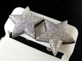 2.25Ct Round Cut Sim Diamond Star Stud Earrings 14k White Gold Plated 925 Silver - $143.65