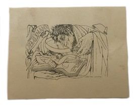 Ismael Smith Ex Libris Exlibris Bookplate Book Plate  Nude JB Alemany - $79.19