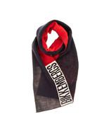 Bikkembergs Unisexe 70830555 Fine Scarf Foulard En Tricot Fin Rosso Mult... - $44.66