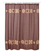New Bradford Star Shower Curtain Rustic Bathroom Log Home Decor  - $37.61