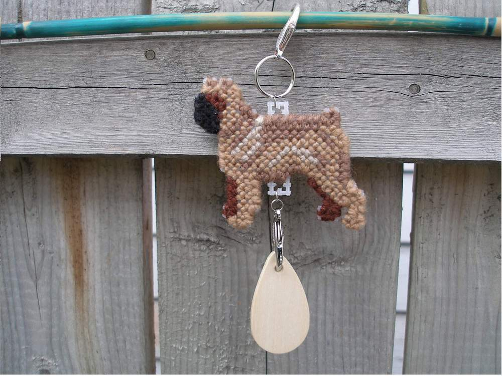 Brussels Griffon Smooth dog crate tag or home decor, hang anywhere, handmade art