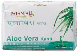 Patanjali Kanti Aloe Vera Body Cleanser Soap, 75g  - $5.45+