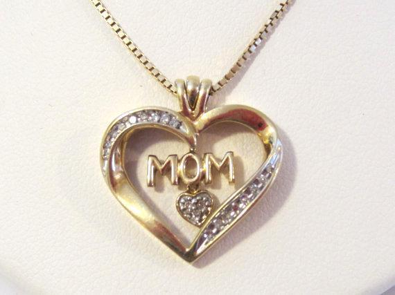 Sterling silver 925 Box chain & Diamond heart pendant