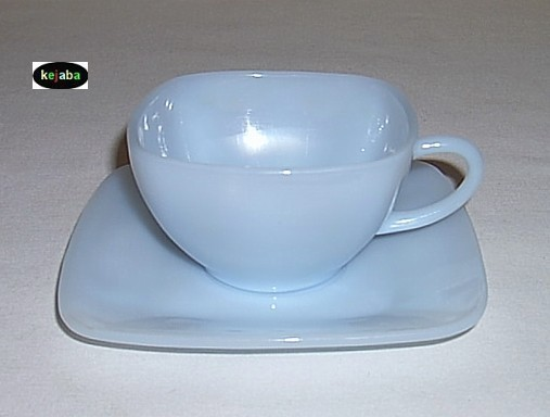 Charm Azurite Cup And Saucer Anchor Hocking
