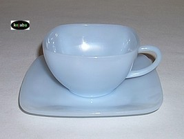 Charm Azurite Cup And Saucer Anchor Hocking image 1