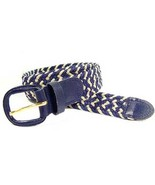 "4 POPULAR SIZES #400-1.25/"" WIDE ELASTIC BRAIDED NYLON STRETCH BELT IN NAVY//BG"