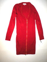 New Womens P XS Calvin Klein Dress Red Sweater Date Work Petite Zipper N... - $94.99