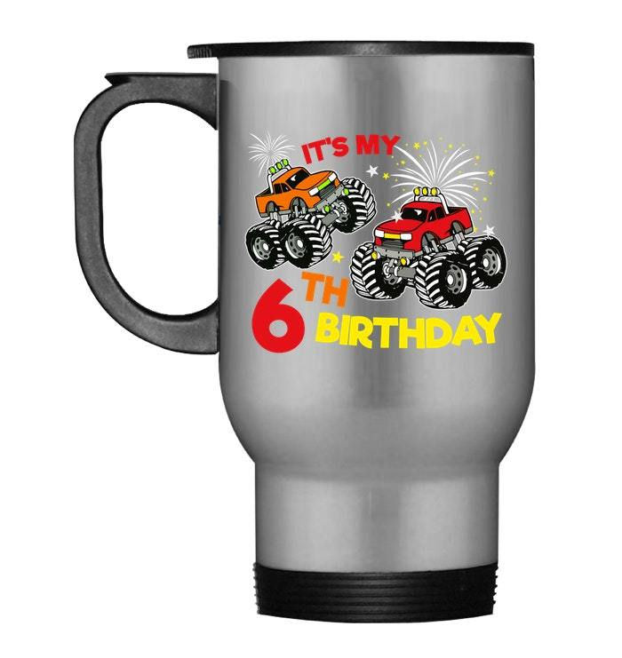 Primary image for Its My 6th Birthday Truck Boy Travel Mug Born in 2012