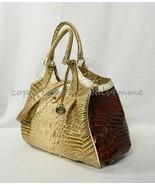 NWT Brahmin Elisa Leather Satchel/Shoulder Bag in Honeycomb Leroy Tri-Color - $389.00