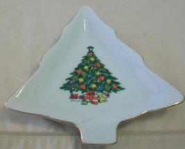 MOUNT CLEMENS PORCELAIN CHRISTMAS TREE DECORATIVE SERVING DISH - $19.80