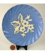 Harker Cameo Ware Plate Blue And White 1940s Bread And Butter - $8.00