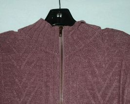 Simply Noelle Brand JCKT222SM Knitted Mauve Women's Zipper Jacket Size Small image 3