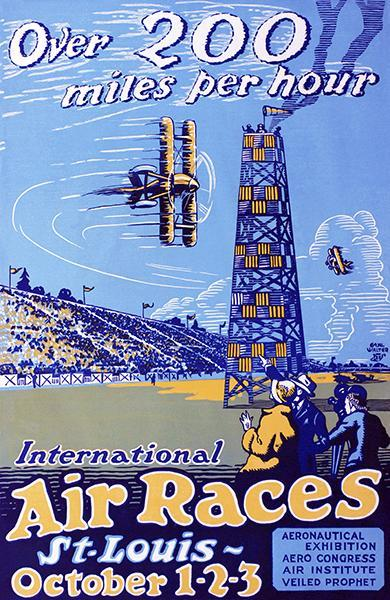 Primary image for 1923 International Air Races - St Louis MO - Promotional Advertising Poster
