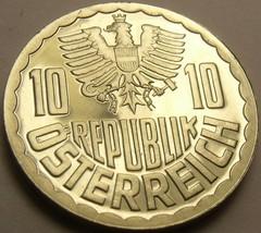 Beweis Österreich 1983 10 Groschen ~ nur 65,000 Minted ~ Reichsadler - $4.47