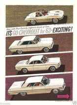 It's Go Chevrolet for '63--Exciting!--Full line ad - $7.10