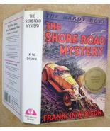Hardy Boys 6 The Shore Road Mystery, Applewood 3rd Ptg hcdj, stained side page b - $11.75