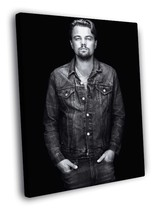 Leonardo DiCaprio BW Portrait Jacket Rare Decor Framed Canvas Print - $14.96+