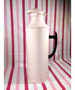 Stunning Vintage Pink Metal Thermos or Coffee Carafe with Aluminum Cork ... - $28.00