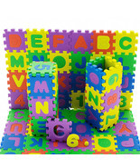 36 Pcs Baby Kids Educational Alphanumeric Puzzle Mats Small Size Child T... - €1,95 EUR