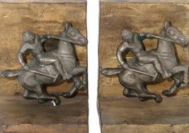 'Bronze Polo Player Bookends' - $750.00