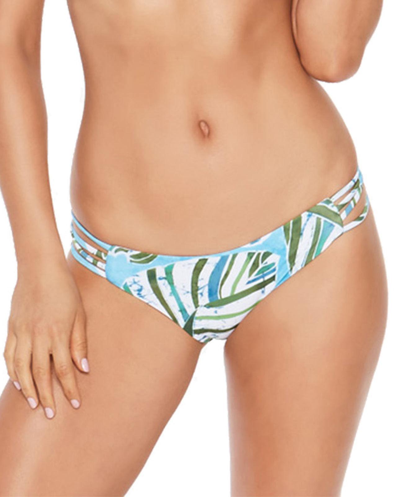 NEW L*Space SUMATRA PALM LOW DOWN Reversible BOTTOM Swim Bikini  M Medium